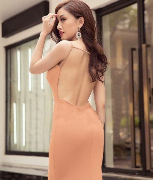 Đầm dạ hội hở lưng thiết kế ôm body tôn dáng sexy – D381