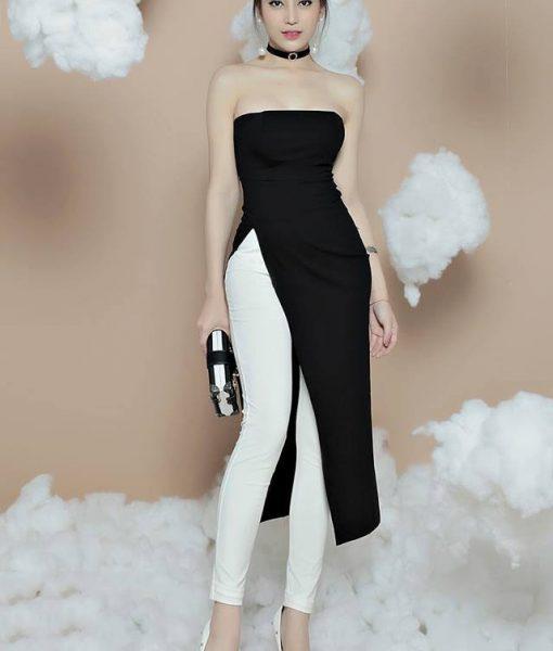 Bộ quần áo dài kiểu dáng mới lạ thiết kế trẻ trung – J78