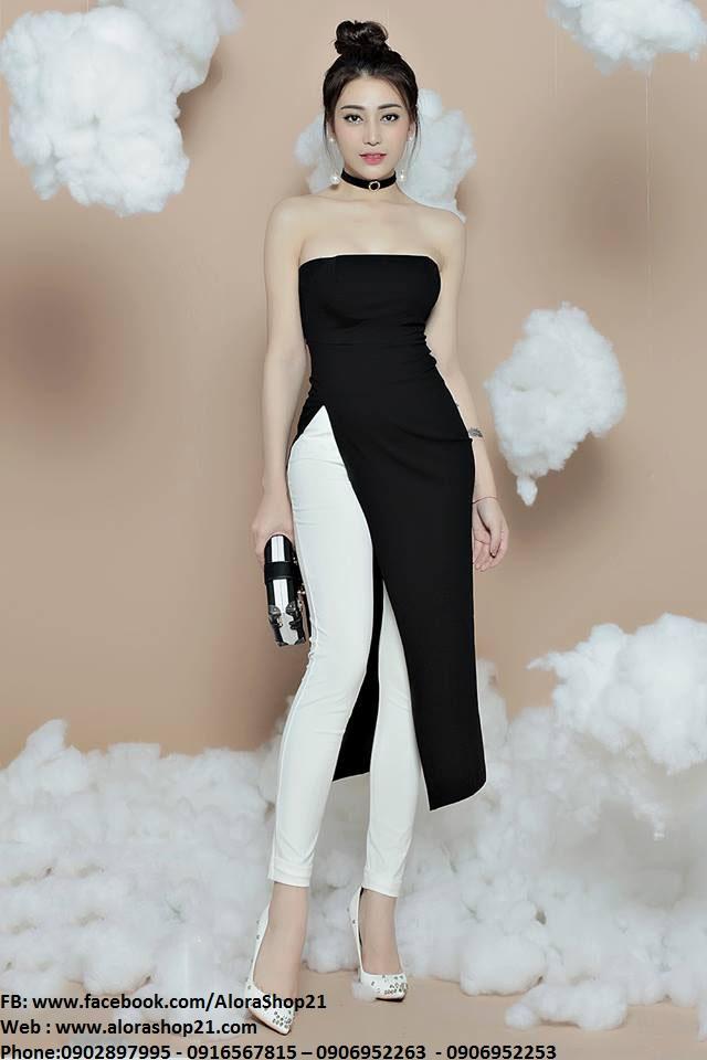 Bộ quần áo dài kiểu dáng mới lạ thiết kế trẻ trung - J78