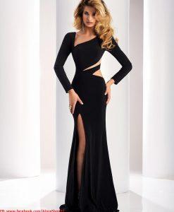 Váy dạ hội tay dài cut out sexy sang trọng quyến rũ - D393