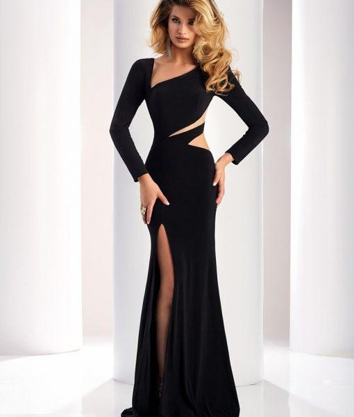 Váy dạ hội tay dài cut out sexy sang trọng quyến rũ – D393