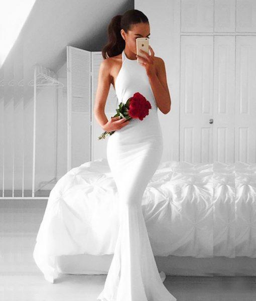 Đầm dạ hội cổ yếm hở lưng sexy sang trọng – D403