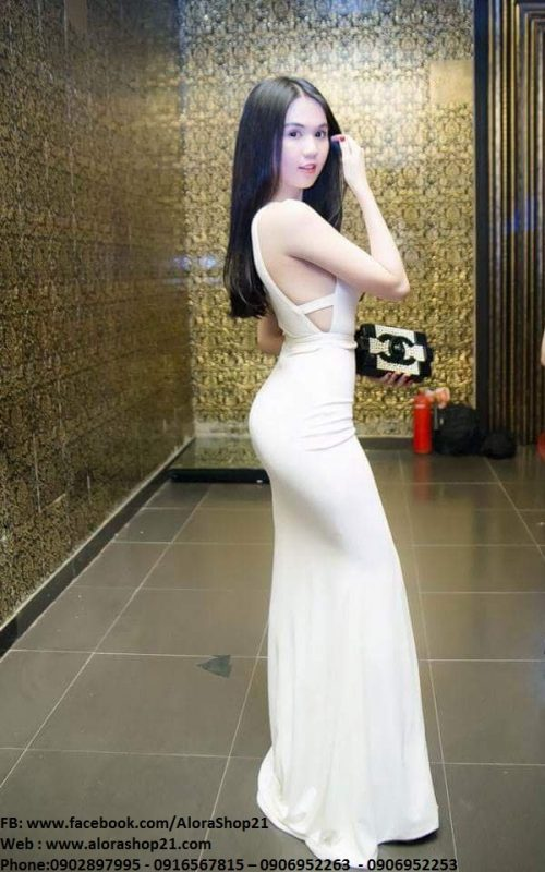 Váy trắng cut out ôm body tôn dáng sexy như Ngọc Trinh - D407