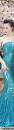 Đầm dạ hội xanh kim sa cao cấp lệch vai quý phái sang trọng – D408