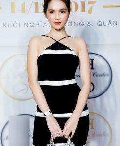 Đầm yếm ôm body Ngọc Trinh thiết kế viền trắng - DN423