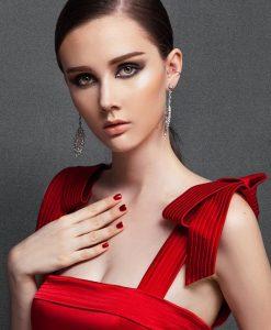 Đầm ôm body dự tiệc đỏ phong cách trẻ trung lạ mắt