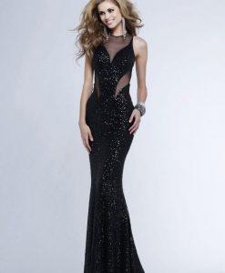 Váy kim sa đen dài cut out eo sexy quyến rũ - D429
