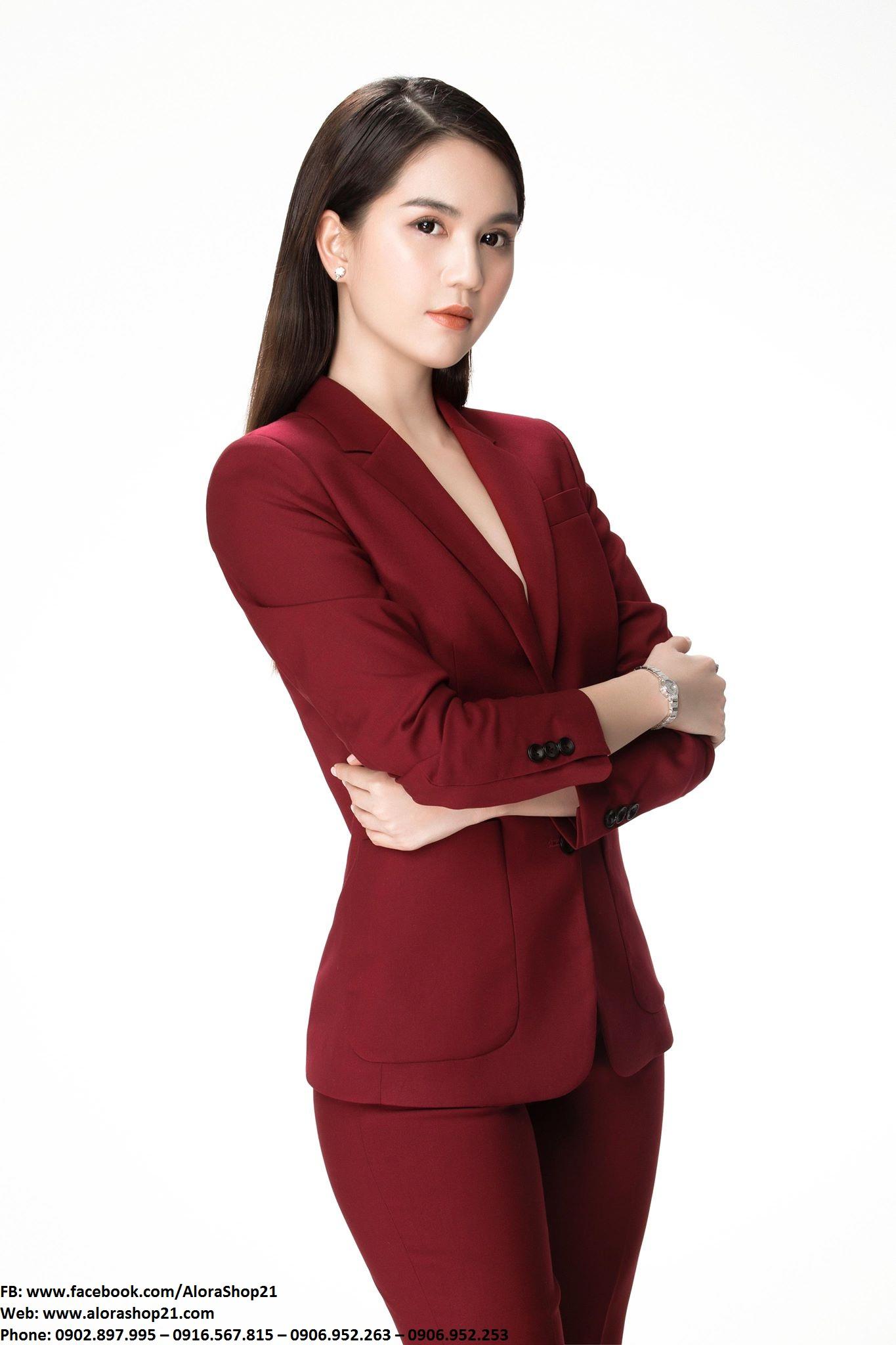 Vest nữ đỏ vang sang trọng quyến rũ như Ngọc Trinh – J86