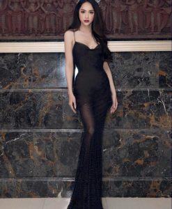 Đầm dạ hội Hương Giang kiểu hai dây cúp ngực - D456
