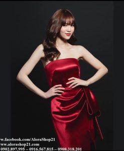 Đầm ôm body kiểu cúp ngực nơ eo như Lan Ngọc - DN454