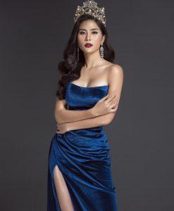 Đầm dạ hội thiết kế cúp ngực ôm xẻ đùi gợi cảm - D485