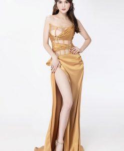 Váy dạ hội thiết kế cúp ngực ôm body cut out sexy - D488