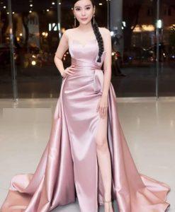 Váy dạ hội cúp ngực xẻ đùi cao khoe dáng - D527