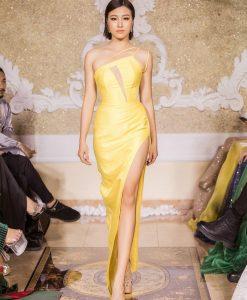 Váy dạ hội lệch vai cut out sexy quyến rũ - D533