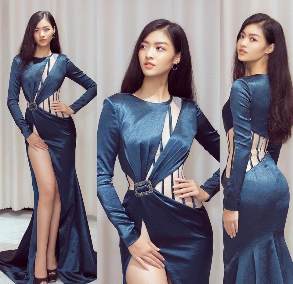 Váy dạ hội tay dài cut out xẻ đùi sexy quyến rũ -D517