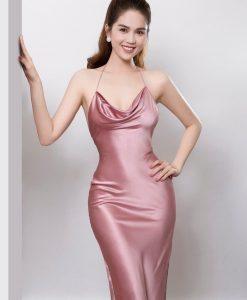 Đầm dạ hội cổ yếm hở lưng tôn dáng - D512