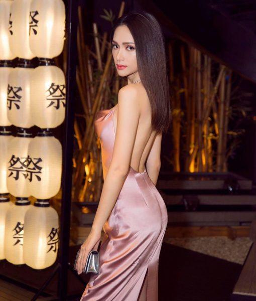 Đầm dạ hội cao cấp thiết kế cổ đổ hở lưng tôn dáng - D512