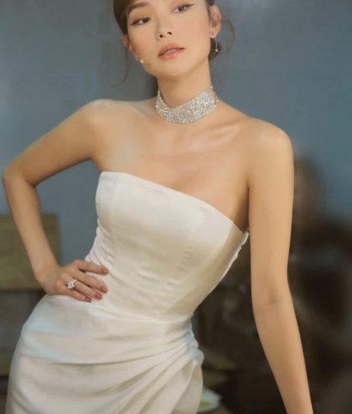 Đầm dạ hội dài thiết kế cúp ngực xẻ đùi cao sexy - D505