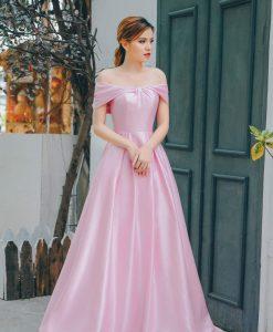 Đầm dạ hội thiết kế bẹt vai quyến rũ - D516