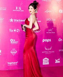 Đầm dạ hội đỏ thiết kế cúp ngực ôm body siêu tôn dáng - D549