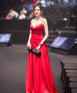 Đầm dạ hội thiết kế hai dây cúp ngực dáng xoè - D567