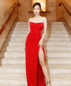 Váy dạ hội đỏ thiết kế cúp ngực ôm dáng - D543