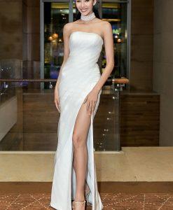 Đầm dạ hội cúp ngực xẻ đùi cao khoe vai trần gợi cảm - D583