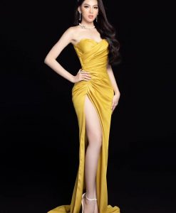 Đầm dạ hội dáng ôm xè đùi nhún eo quyến rũ - D575