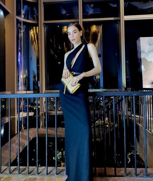 Đầm dạ hội thiết kế lệch vai khoét ngực gợi cảm - D577