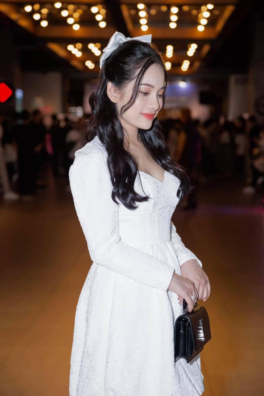Đầm xòe ren thiết kế cổ V tay dài dễ thương - DN510