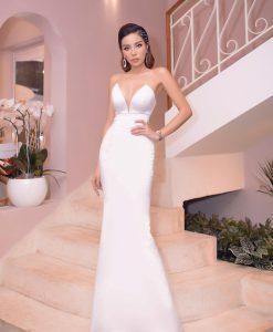 Váy dạ hội cúp ngực trắng ôm body cực sexy - D598