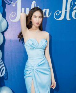 Đầm dạ hội ngọc trinh thiết kế cúp ngực xẻ đùi cao sexy - D615